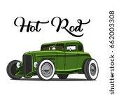 hot rod | Shutterstock .eps vector #662003308