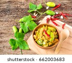 chicken and spicy chili with... | Shutterstock . vector #662003683