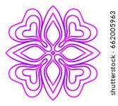 floral mandala. vector...   Shutterstock .eps vector #662005963