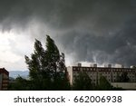 heavy storm clouds and strong...   Shutterstock . vector #662006938