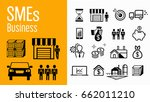 smes business icon standard.... | Shutterstock .eps vector #662011210