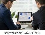 rear view at two businessmen... | Shutterstock . vector #662011438