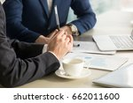 business negotiations close up  ... | Shutterstock . vector #662011600