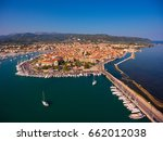 aerial view of lefkada town | Shutterstock . vector #662012038