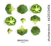 Seamless pattern with broccoli. ...