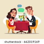 couple two man and woman... | Shutterstock .eps vector #662019169