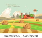 farm rural landscape....   Shutterstock .eps vector #662022220