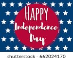 fourth of july. united states... | Shutterstock .eps vector #662024170