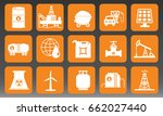 fuel and energy icons set... | Shutterstock .eps vector #662027440