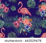 seamless vintage style pattern... | Shutterstock . vector #662029678