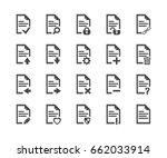 document icon set  vector... | Shutterstock .eps vector #662033914