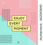 memphis poster 80's 90's styles.... | Shutterstock .eps vector #662043640