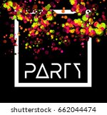 abstract vector party background | Shutterstock .eps vector #662044474