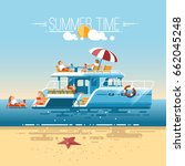 catamaran sailing boat with... | Shutterstock .eps vector #662045248