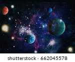 planet   elements of this image ... | Shutterstock . vector #662045578