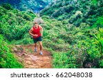 Trail Running Man Athlete On...