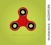 red fidget spinner stress... | Shutterstock .eps vector #662049184
