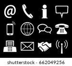 white contact icons   stock... | Shutterstock .eps vector #662049256