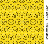 hand drawn smiley faces... | Shutterstock .eps vector #662056324