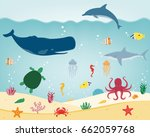 sea icons and symbols set. sea... | Shutterstock .eps vector #662059768