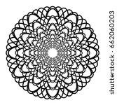 mandala vector art | Shutterstock .eps vector #662060203