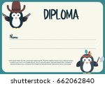 vector diploma template with... | Shutterstock .eps vector #662062840