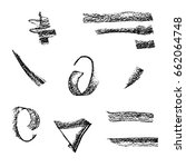 set grungy artistic textures.... | Shutterstock .eps vector #662064748