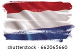 holland flag background with... | Shutterstock . vector #662065660