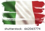 italy flag background with... | Shutterstock . vector #662065774