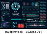 hud ui for business app.... | Shutterstock .eps vector #662066014