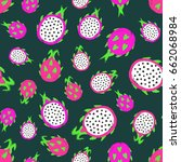 dragon fruit background. pitaya ... | Shutterstock .eps vector #662068984