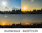 4 Moments Of Sunset  View Of...
