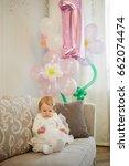 little girl in white dress... | Shutterstock . vector #662074474