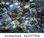 abstract technology background. ... | Shutterstock . vector #662077558