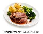 Grilled Beefsteak With Broccol...