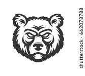 bear head logo. | Shutterstock .eps vector #662078788