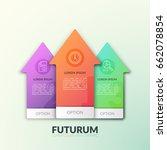three separate multicolored... | Shutterstock .eps vector #662078854