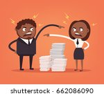 man and woman colleagues office ... | Shutterstock .eps vector #662086090