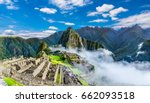 overview of machu picchu ... | Shutterstock . vector #662093518