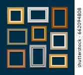 vector set of picture frames on ... | Shutterstock .eps vector #662094808