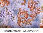detail of vintage shabby chic... | Shutterstock . vector #662099014