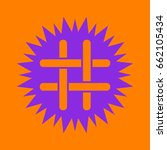 hashtag icon. violet spiny... | Shutterstock .eps vector #662105434
