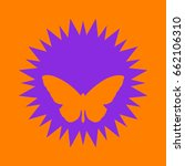 butterfly icon. violet spiny... | Shutterstock .eps vector #662106310