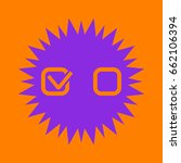 checklist sign icon. violet... | Shutterstock .eps vector #662106394