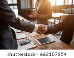 business handshake. business... | Shutterstock . vector #662107354