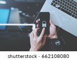 cyber security internet and... | Shutterstock . vector #662108080