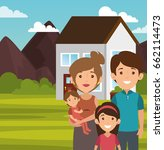 family related design | Shutterstock .eps vector #662114473