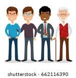 stylish man icon | Shutterstock .eps vector #662116390