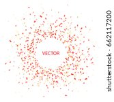 vector red confetti background... | Shutterstock .eps vector #662117200
