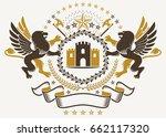 vector heraldry emblem composed ... | Shutterstock .eps vector #662117320